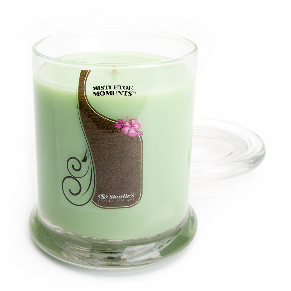Mistletoe Moments Candle - 10 Oz. Highly Scented Green Jar Candle - Christmas Candles Collection
