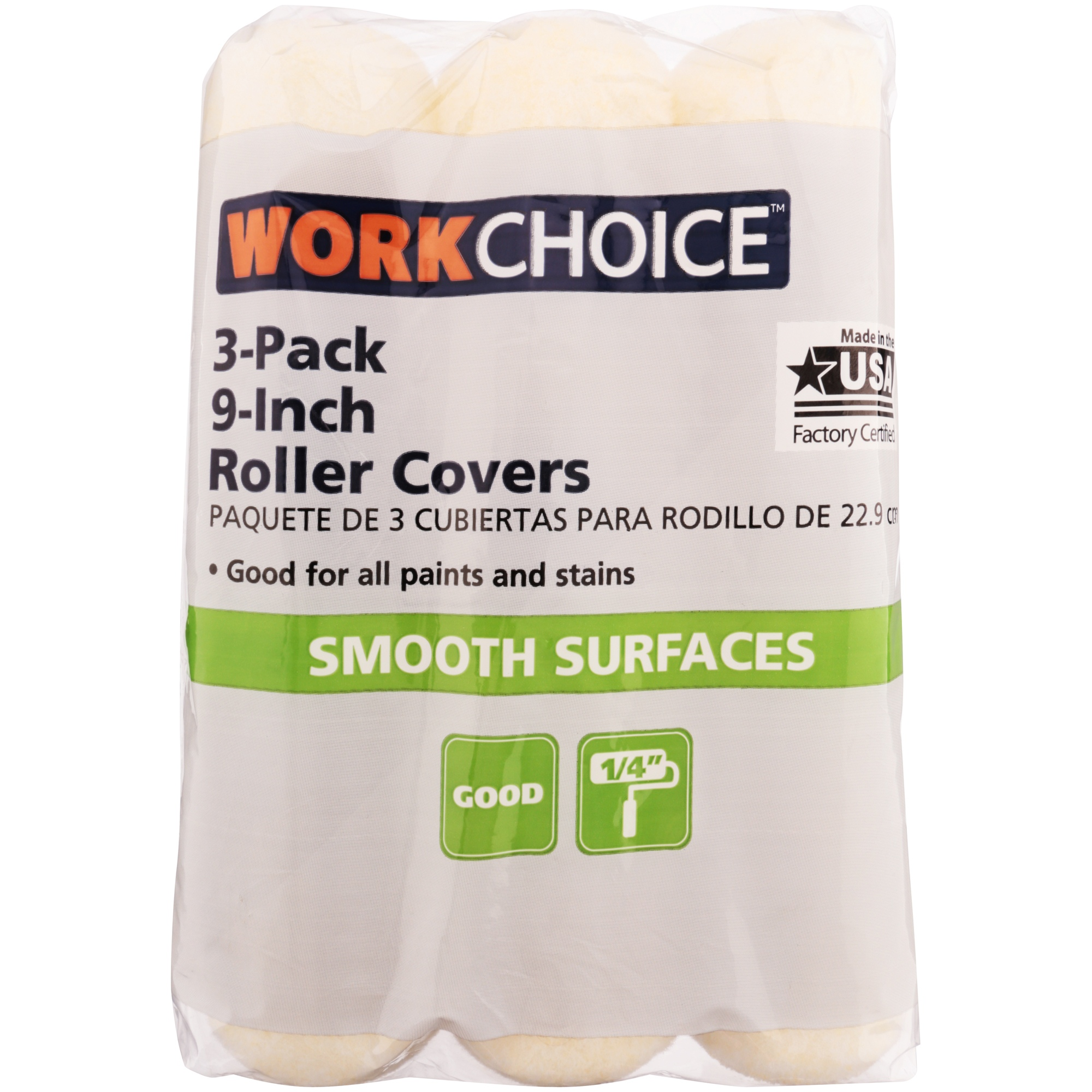 Work Choice™ 9-Inch Roller Covers 3 ct Pack