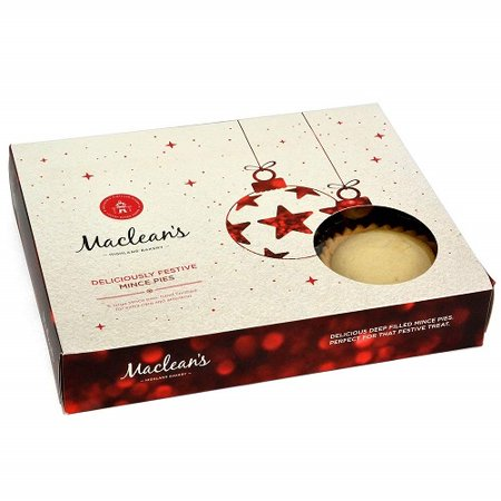 Macleans Highland Bakery Mince Pies 6 pk (Bakery On Main Oatmeal Apple Pie)