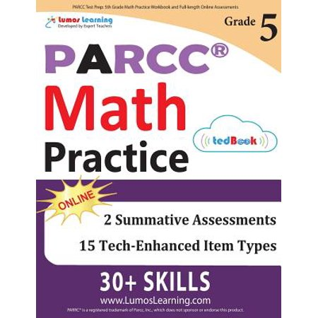 Parcc Test Prep : 5th Grade Math Practice Workbook and Full-Length Online  Assessments: Parcc Study Guide