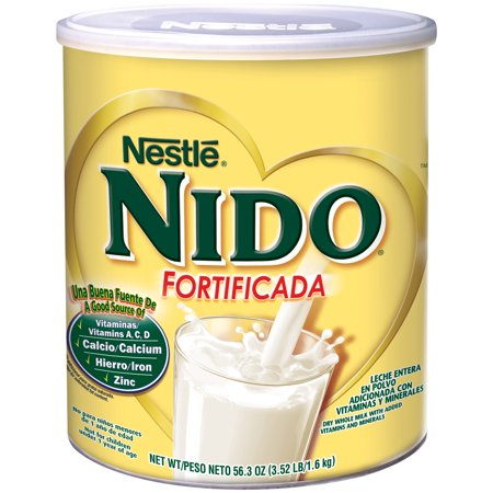 Nestle NIDO Fortificada Dry Whole Milk 56.3 oz. Canister