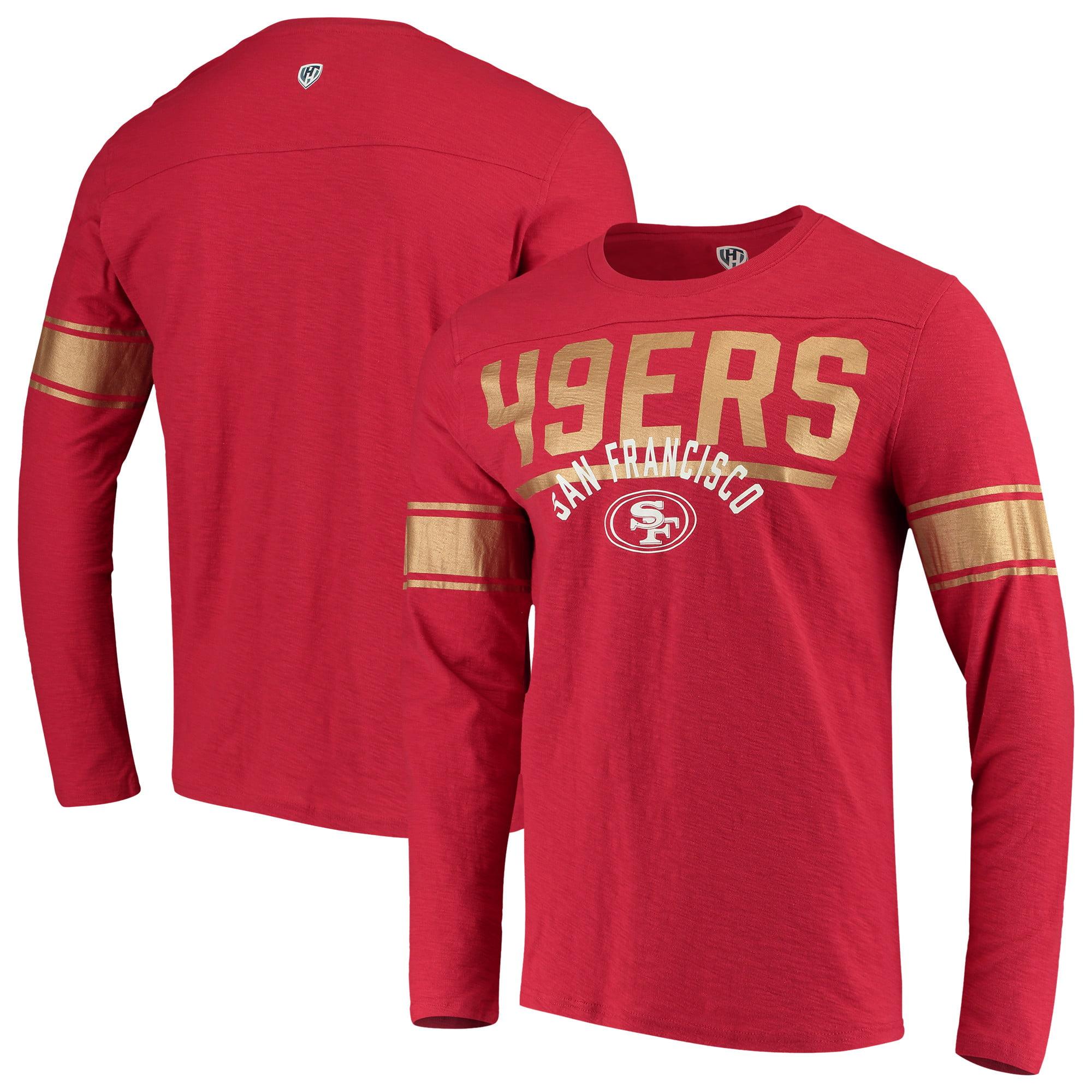 San Francisco 49ers Hands High Champion Slub Long Sleeve T-Shirt - Scarlet