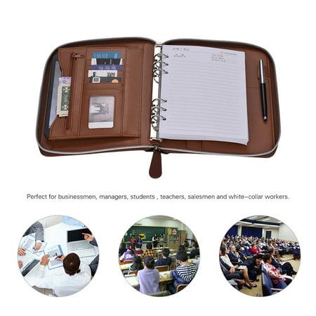 b9c0e73c2185 Professional PU Leather Padfolio Business Portfolio Holder Organizer ...