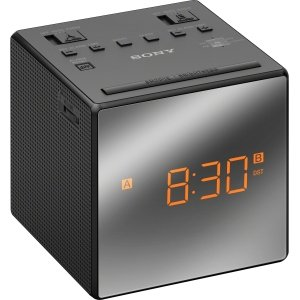 Sony (ICFC1TBLACK) ICFC1T Dual Alarm Clock Radio, Black