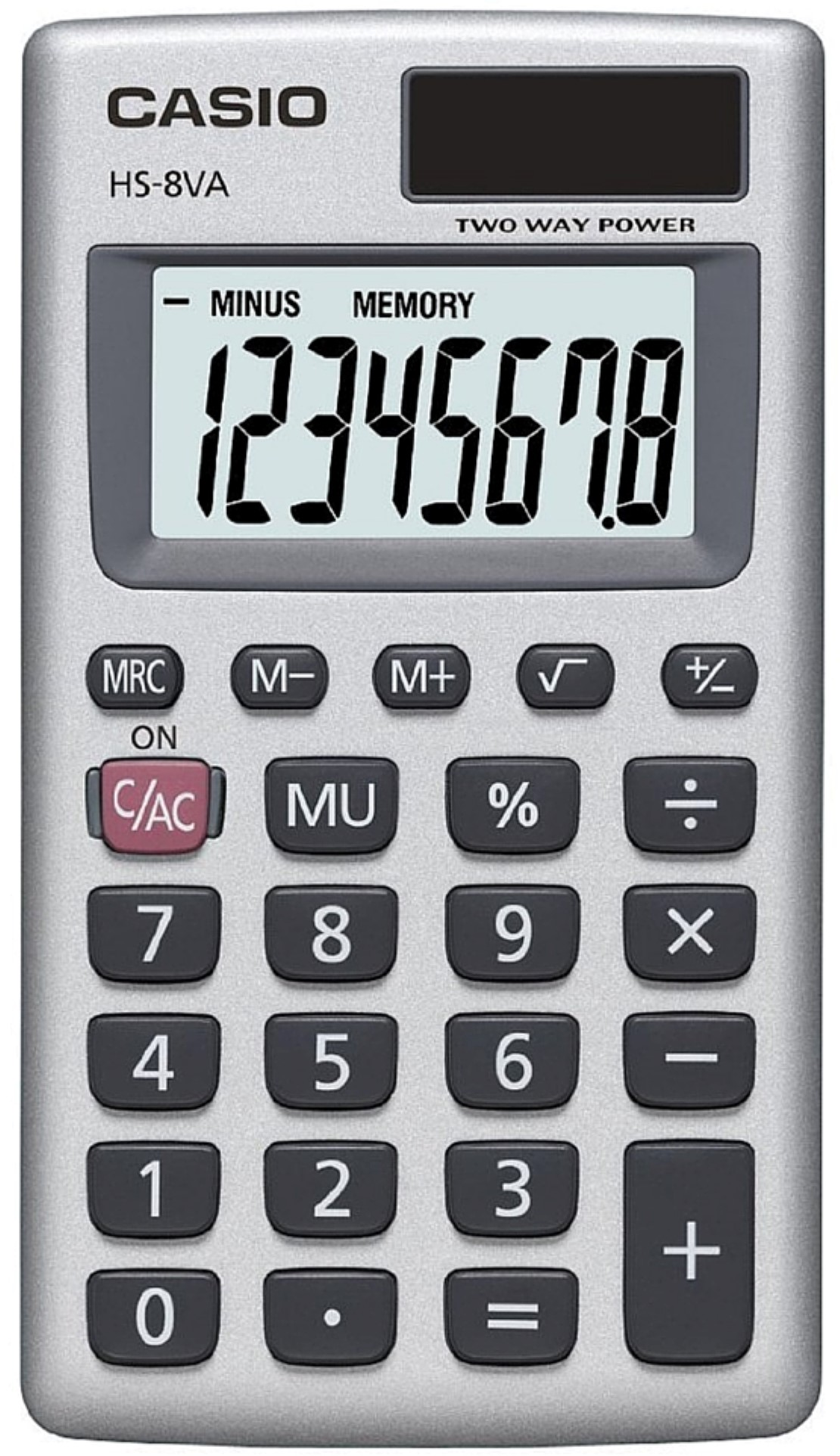 casio hs8va basic 8 digit calculator com
