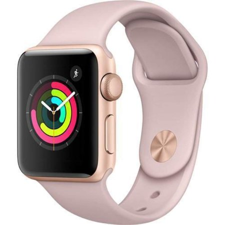 Apple Watch Series 1 Smartwatch 42mm, Rose Gold Aluminum Case/ Pink Band (Newest Model) (Refurbished)