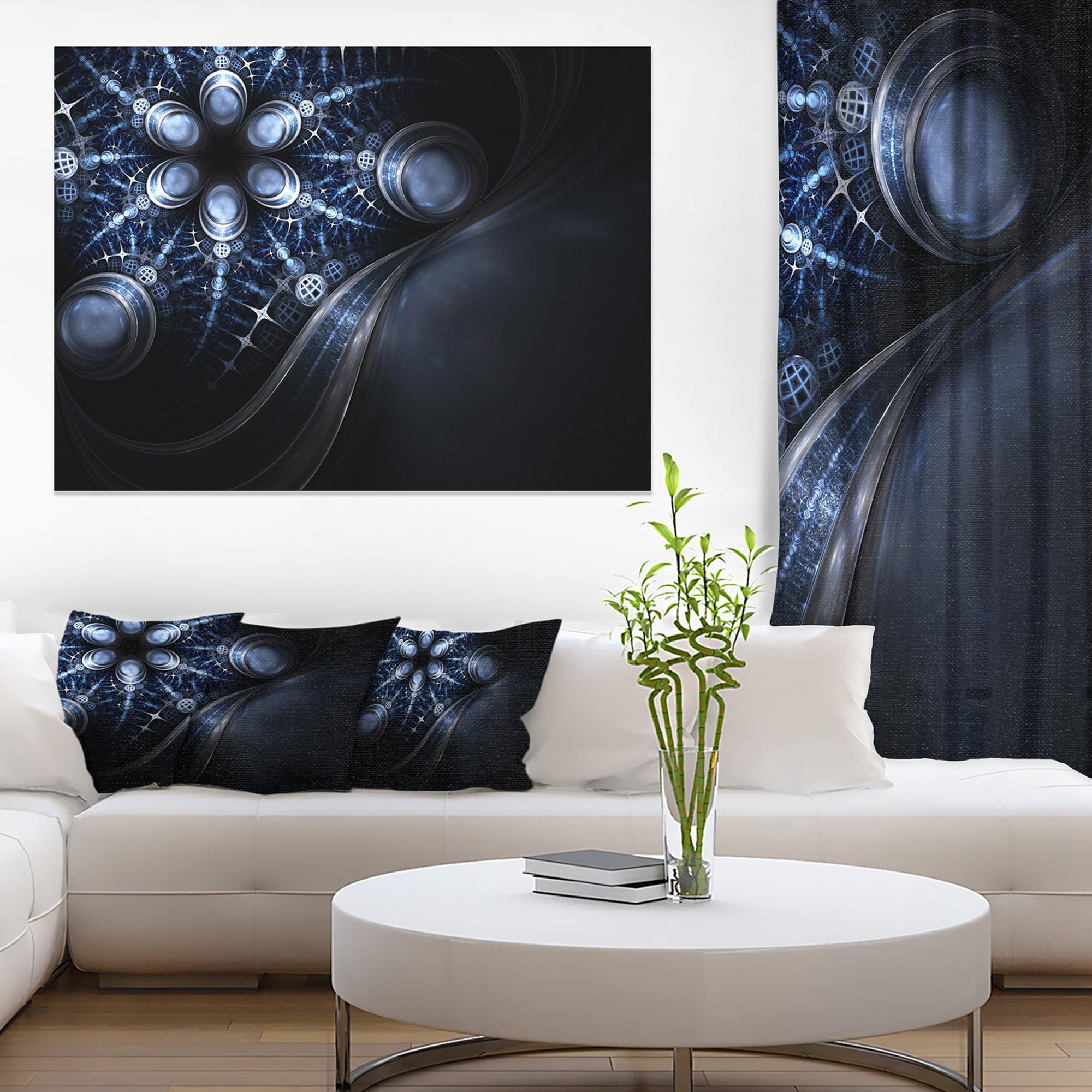 Glittering Curvy Stylish Fractal Flower Floral Canvas Art Print Walmart Canada
