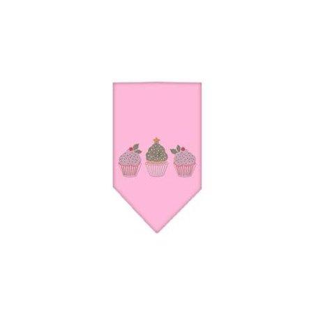 Christmas Cupcakes Rhinestone Bandana Light Pink
