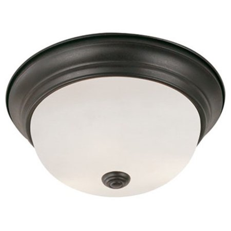 "Trans Globe Lighting PL-13719 Bowers 3-Light 15"" Wide Flush Mount Bowl Ceiling Fixture with Frosted Glass Shade"