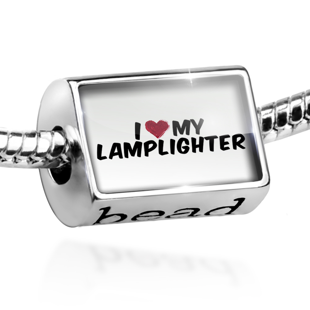 Bead I heart love my Lamplighter Charm Fits All European Bracelets