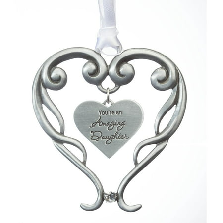 Pewter Amazing Daughter Ornament (Pewter Fox)