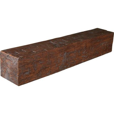 8 H x 10 D x 84 W Hand Hewn Faux Wood Fireplace Mantel Antique Cherry