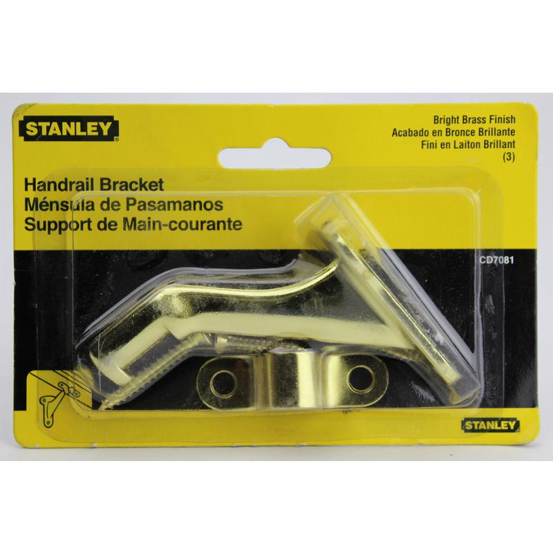 Decorative Handrail Bracket Stanley Handrail Brackets 85-6055 Brass 033923140041