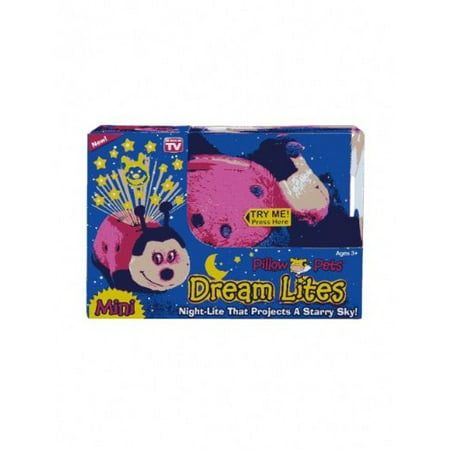 pillow pets dream lites mini - hot pink ladybug