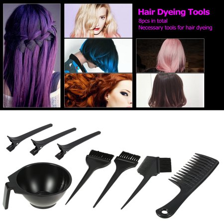 4 Pcs Hair Coloring Tools Kit Dyeing Bowl Brush Double Sided B Hairdressing Tool S Tomtop