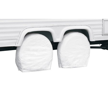 """Classic Accessories OverDrive RV Wheel Covers (2-pack), White, Choose Wheel Diameter 18"""" - 41"""""""