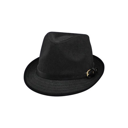 280ec165d957d7 Lightweight Summer Fedora Hat With Belt Style Band - Walmart.com