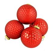 Northlight Seasonal Prism Textured Shatterproof Christmas Ball Ornament (Set of 4)