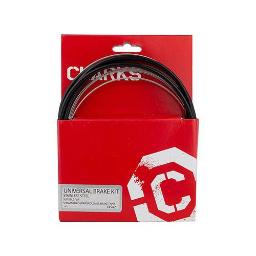 Clarks Stainless Steel Brake Kit Compatible with MTB / Hybrid / Road Black
