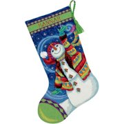 "Dimensions ""Happy Snowman"" Stocking Needlepoint Kit, 16""L"