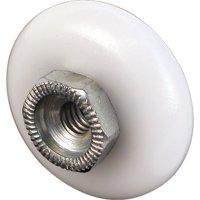 Door Holder Replacement Tips, 5/8 in. Thread Diameter x 1 in., Rubber, Black (10-pack)