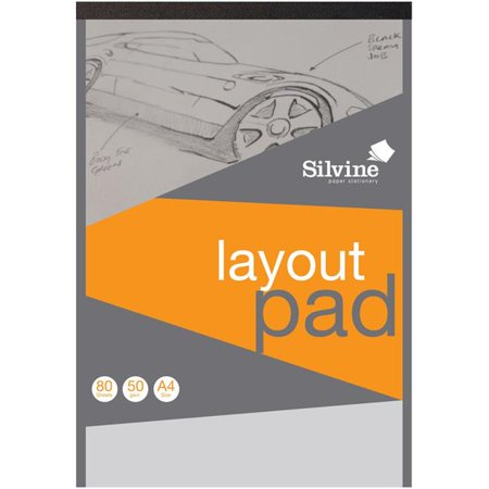 Sinclairs A4LP 8.27 x 11.69 in. A4 Professional Layout Pad - 80 Sheets - A4 Halloween Printables