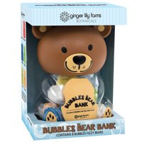 Ginger Lily Farms Bubbles The Bear Bank Fizzy Bath Bombs, 8 Ct, 1.7 Oz ea