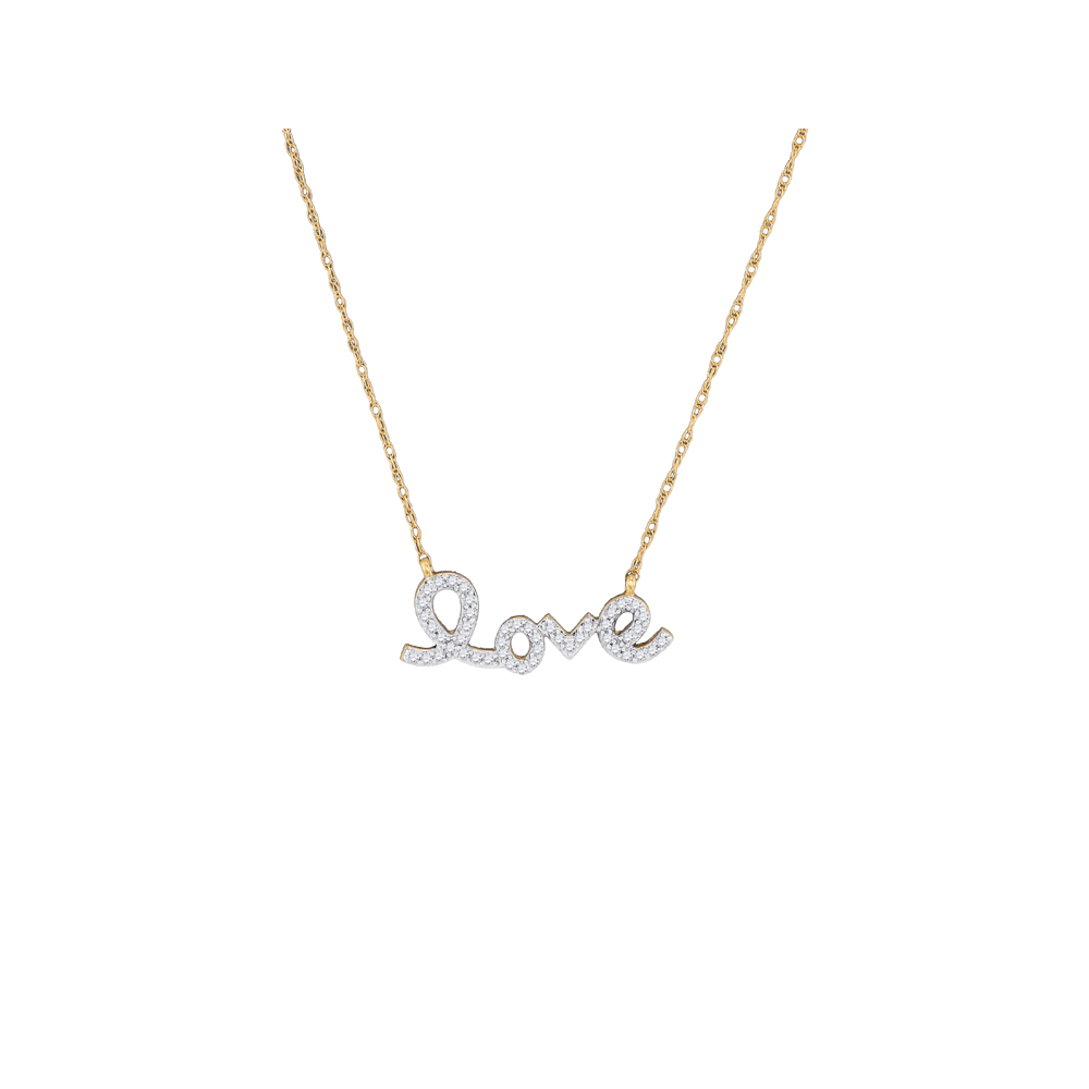0.15ctw Diamond Love Necklace by GD