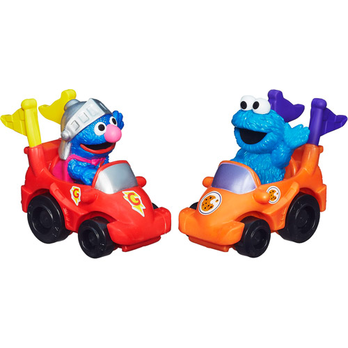 Image of Playskool Sesame Street Racers, Super Grover and Cookie Monster