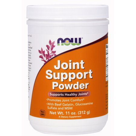 Glucosamine Sulfate Natures Way - NOW Supplements, Joint Support™ Powder with Beef Gelatin, Glucosamine Sulfate and MSM, 11-Ounce
