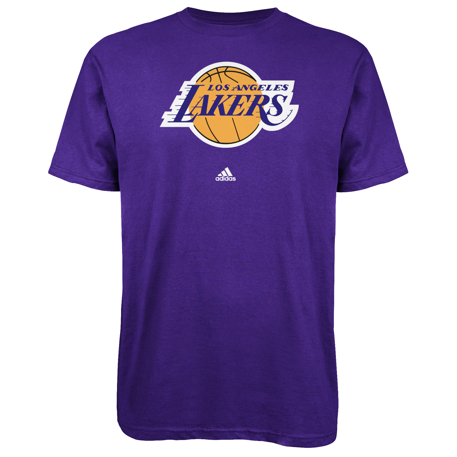 Los Angeles Lakers Adidas Primary Logo NBA Men T Shirt Purple