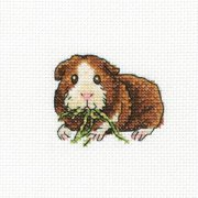"Larky Lucky Counted Cross Stitch Kit-4""X4"" 14 Count"