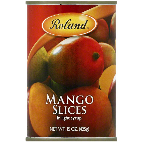***Discontinued by Kehe***Roland Sliced Light Syrup Mango, 15 oz (Pack of 12)