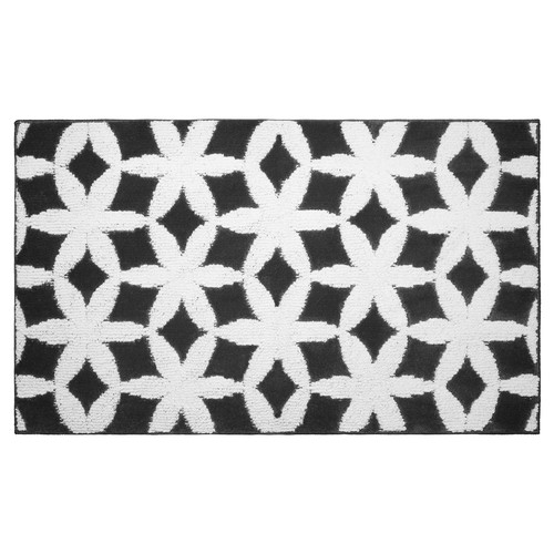 Jean Pierre Cut and Loop Geo Flower Textured Decorative Accent Rug