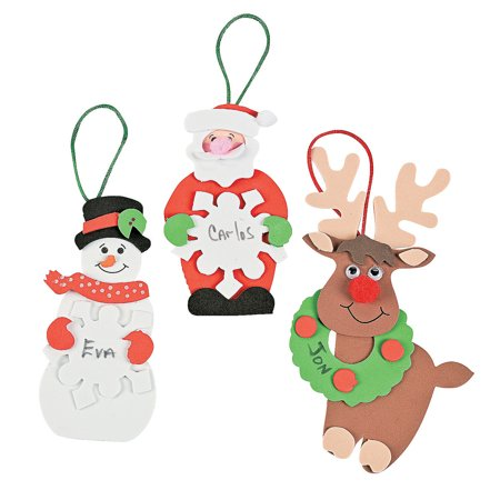 IN-48/3176 Christmas Tree Ornament Craft Kit Makes - Christmas Ornament Craft