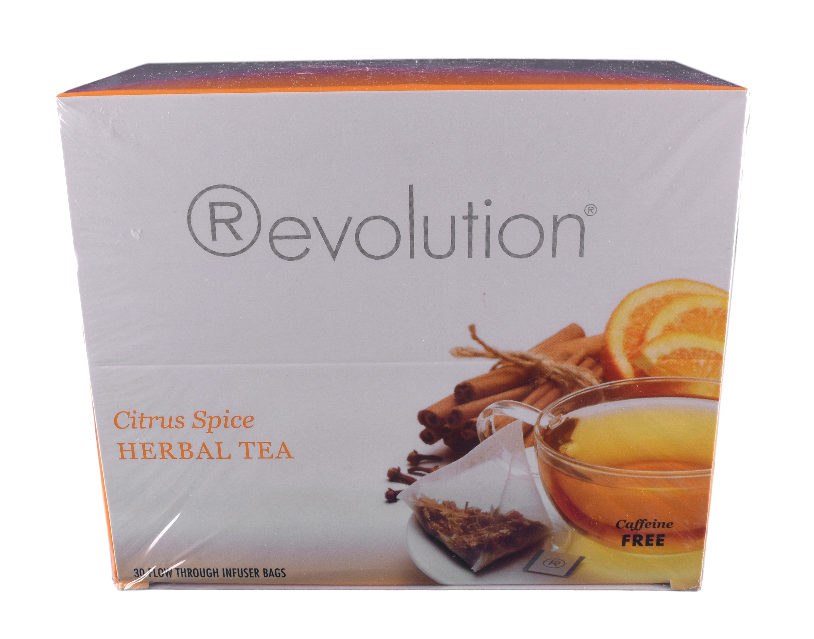 Revolution Citrus Spice Herbal Tea, 30-Count Tea Bags by