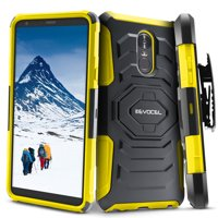LG Stylo 4 Case, Evocel New Generation Series [Belt Clip Holster] [Kickstand] [Dual Layer] Phone Case for LG G Stylo 4 (2018 Release), Yellow