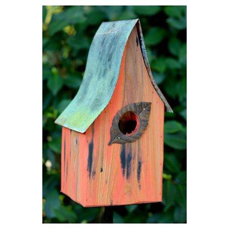 Shady Shed Bird House in Mango Finish