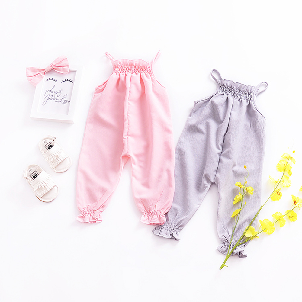 XIAXAIXU Kids Baby Boys Strap Romper Jumpsuit Harem Pants Trousers Overall Outfit