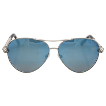 Roberto Cavalli RC976S Syrma 16X - Shiny Palladium/Blue Mirror by Roberto Cavalli for Women - 61-12- - image 1 of 1