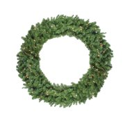 """Northlight 48"""" Prelit Canadian Pine Artificial Christmas Wreath - Clear Lights"""