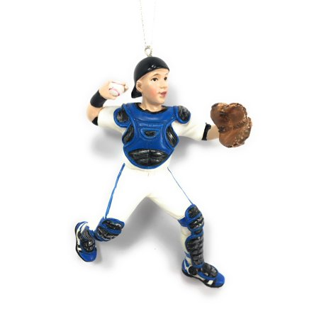 Baseball Player Position Catcher Christmas Tree Ornament ()