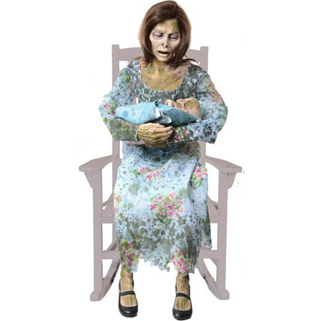 Life-Size Rocking Moldy Mommy Halloween Prop - Great Halloween Yard Props