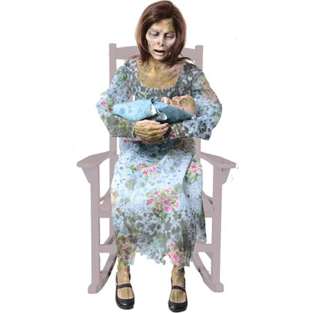 Life-Size Rocking Moldy Mommy Halloween Prop (Indoor Halloween Decor)