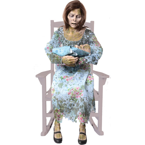 Life-Size Rocking Moldy Mommy Halloween Prop