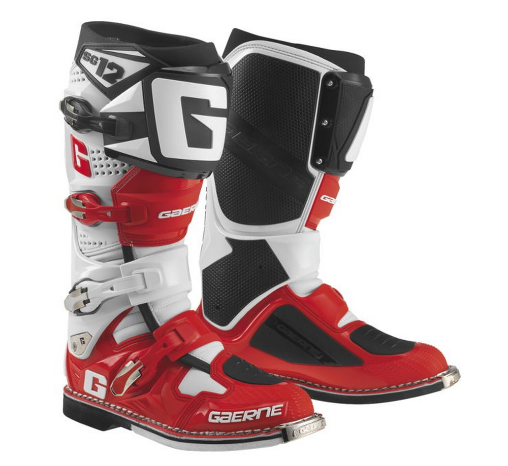 Gaerne SG-12 LE Mens MX Offroad Boots White/Red/Black