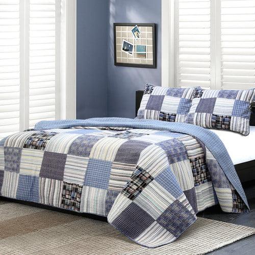Cozy Line Home Fashion Daniel Striped Patchwork Quilt Set