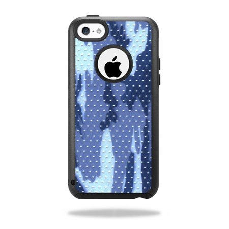 Skin Decal Wrap for OtterBox Commuter iPhone 5C Case Blue Camo