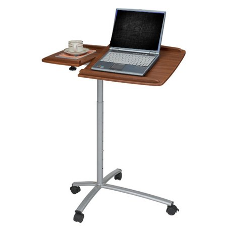 Ergonomic adjustable computer cart desk mahogany - Computer cart walmart ...