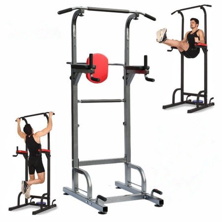 Station Power Tower,Full Body Power Tower Home Fitness Workout Station With Pull Push Chin Up Bar Dip Station
